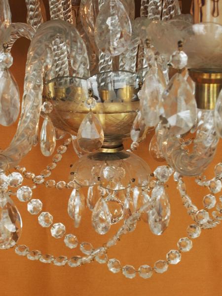 SHL3 アンティーク ガラス シャンデリア