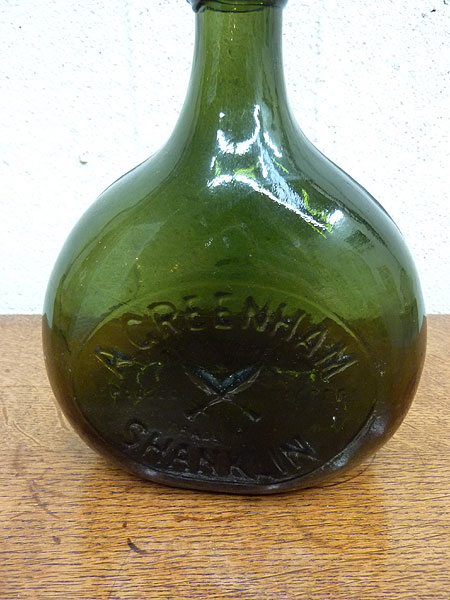 KQ194 アンティーク ガラスボトル