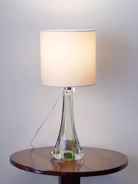 PJ395 アンティーク ガラス テーブルランプ