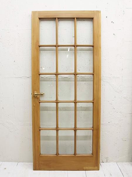 KT193a アンティーク グラス ドア
