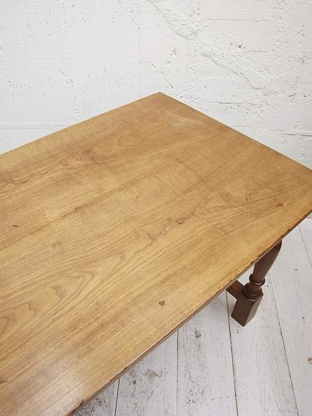 KM140 アンティーク オークレッグ テーブル