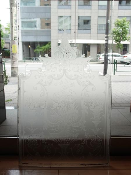 ND119c アンティーク エッチングガラス