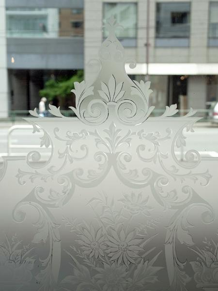 ND119e アンティーク エッチングガラス
