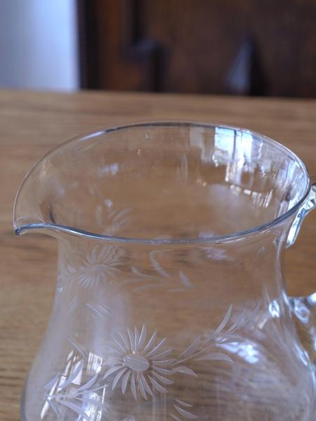 SHB2f アンティーク ガラスジャグ