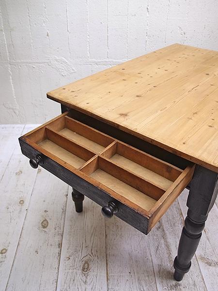 KW165 アンティーク オールドパイン ペイント テーブル