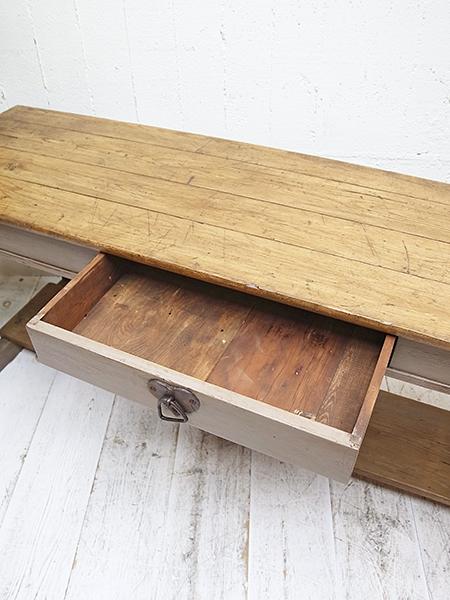 KW68a アンティーク オールドパイン ペイント サーバーテーブル