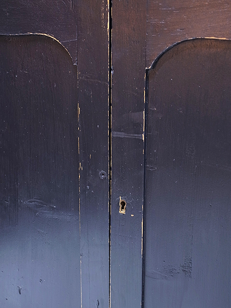 KL143 アンティーク オールドパイン ペイント キャビネット