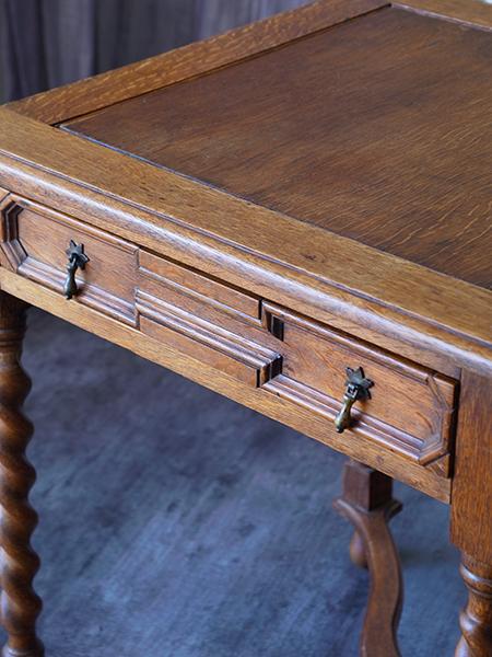 KX106 アンティーク オークカードテーブル