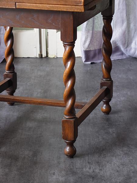 KX110b アンティーク オーク ドロアリーフテーブル