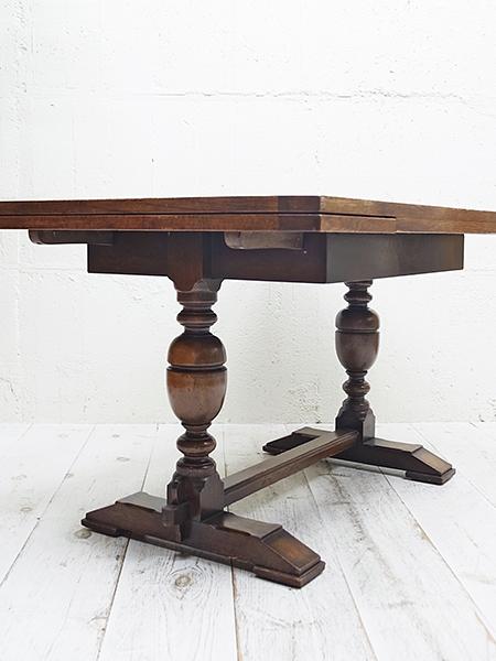 KX98 アンティーク オーク ドローリーフ テーブル
