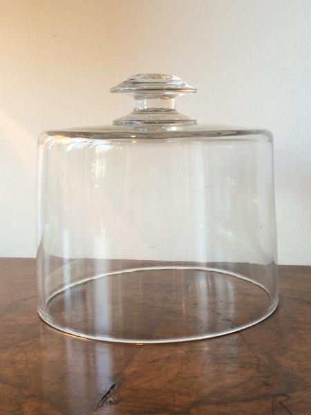 KV120b アンティーク ガラスケーキカバー