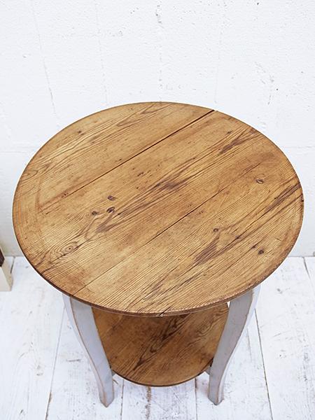 KX8B アンティーク フレンチ ペイント ラウンド テーブル