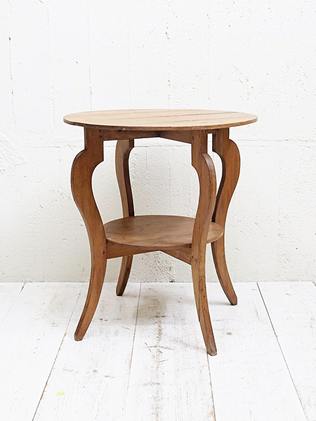 KY116a アンティーク オールドパイン ラウンドテーブル