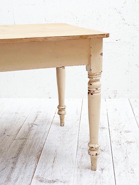KY78 アンティーク オールドパイン ペイント テーブル