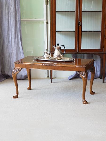 KY48 アンティーク ウォルナットコーヒーテーブル