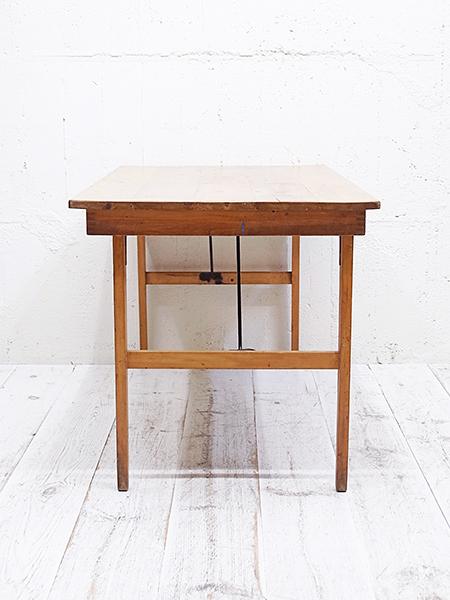 KY168a,b アンティーク オールドパイントップ フォールディングテーブル