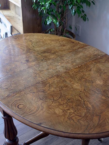 KA4 アンティーク ウォルナットサザーランドテーブル