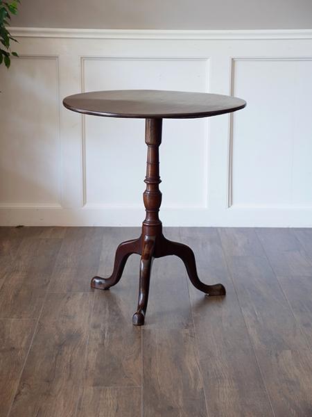 AM5 アンティーク マホガニートライポッドテーブル