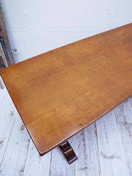 KA14 アンティーク オーク リフェクトリーテーブル