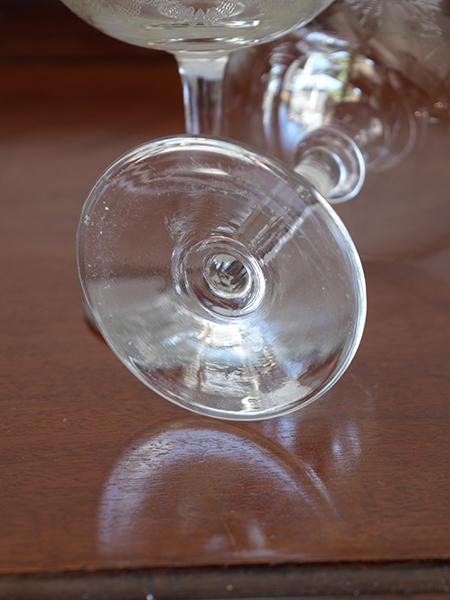 KA211 アンティーク ガラスシャンパングラス