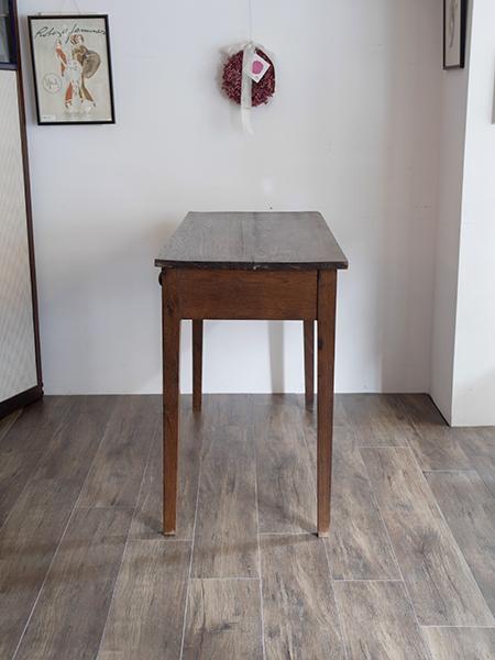 KA137 アンティーク オークサーバーテーブル