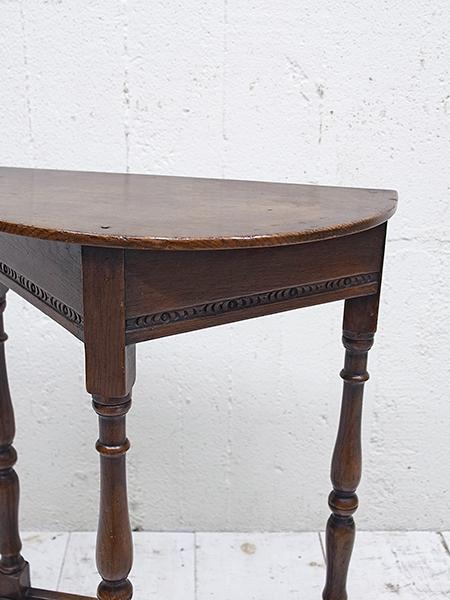 KB56 アンティーク オーク ハーフラウンド テーブル