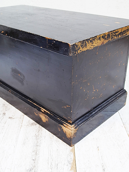 KA111 アンティーク オールドパイン ペイント ボックス