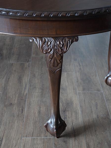 KB96 アンティーク マホガニーウィンドアウトテーブル