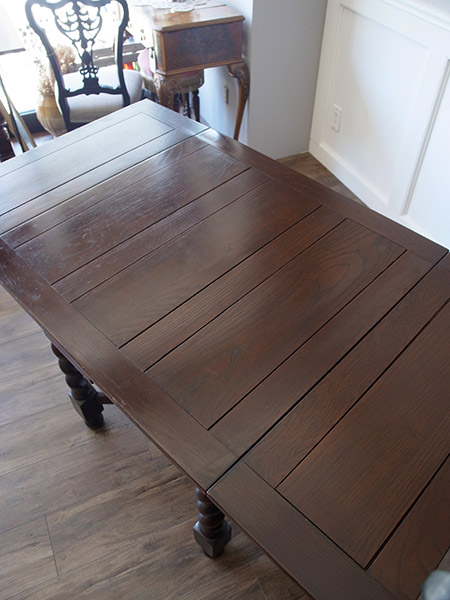 KB83 アンティーク オークドロアリーフテーブル