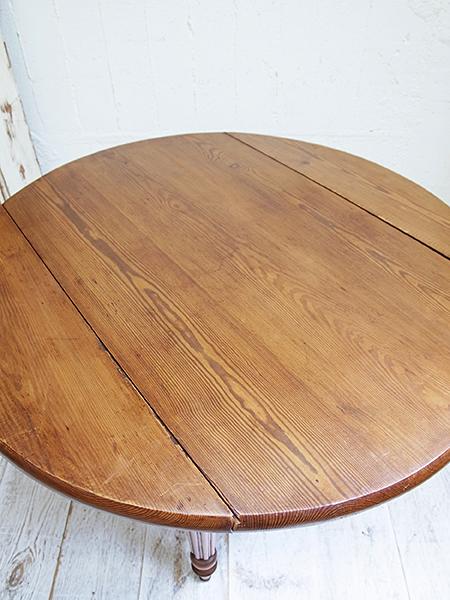 KC78 アンティーク フレンチ オールドパイン ラウンドテーブル