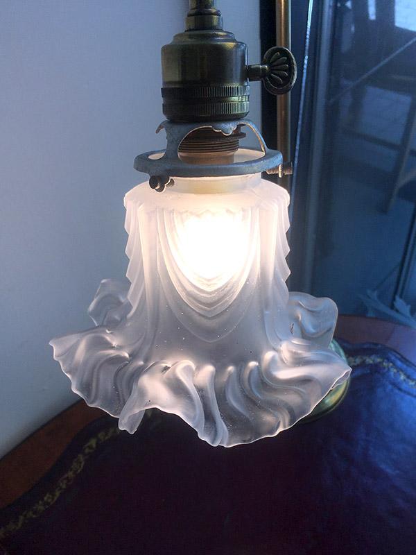 KA176b アンティーク ブラステーブルランプ