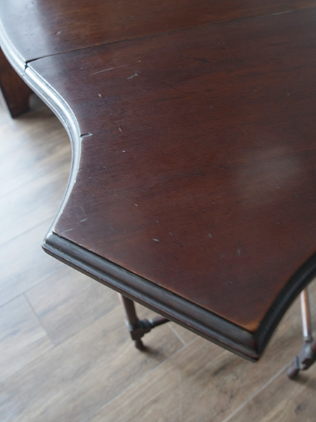 KE120b アンティーク マホガニーゲイトレッグテーブル