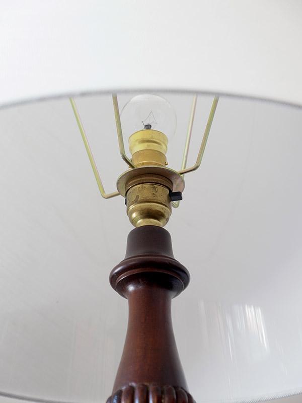 KE122 アンティーク マホガニーフロアランプ