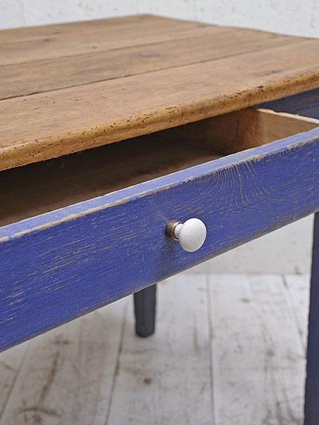 KE45 アンティーク オールドパイン ペイント テーブル