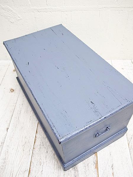 KV102 アンティーク  パイン ペイント ボックス