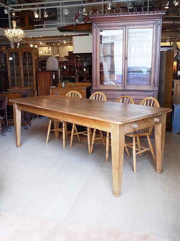 KE25  アンティーク パインテーブル