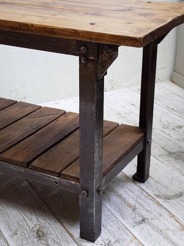 KF22 アンティーク ファクトリーテーブル