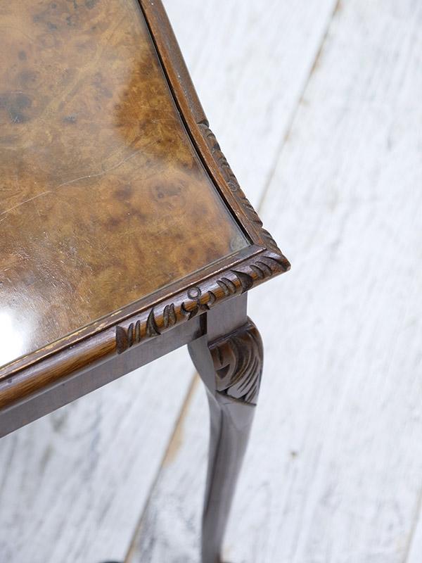 KF150 アンティーク ウォルナットネストテーブル