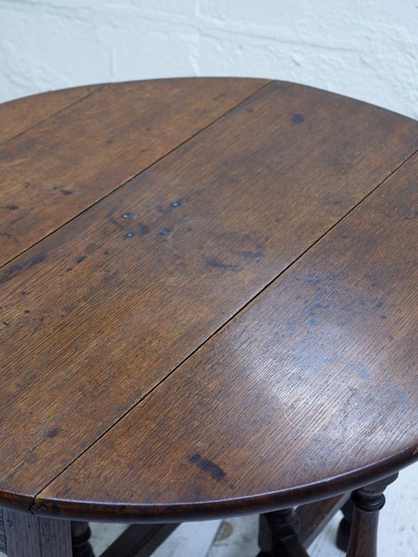 KF133 アンティーク オークゲイトレッグテーブル