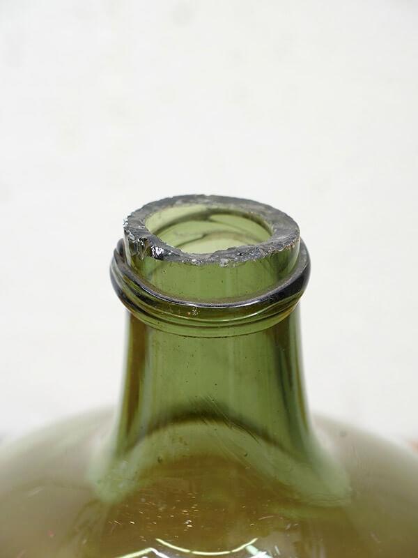 KC74 アンティーク ガラスワインボトル