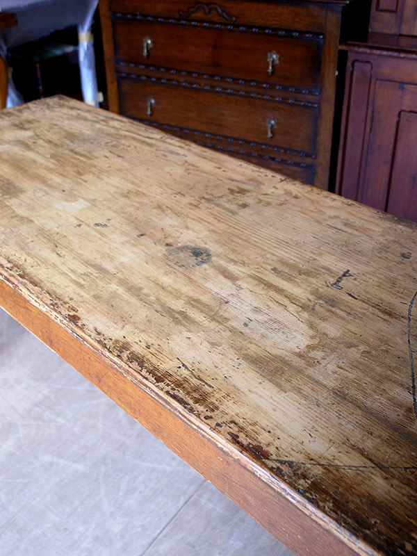 KG4 アンティーク フレンチパインテーブル