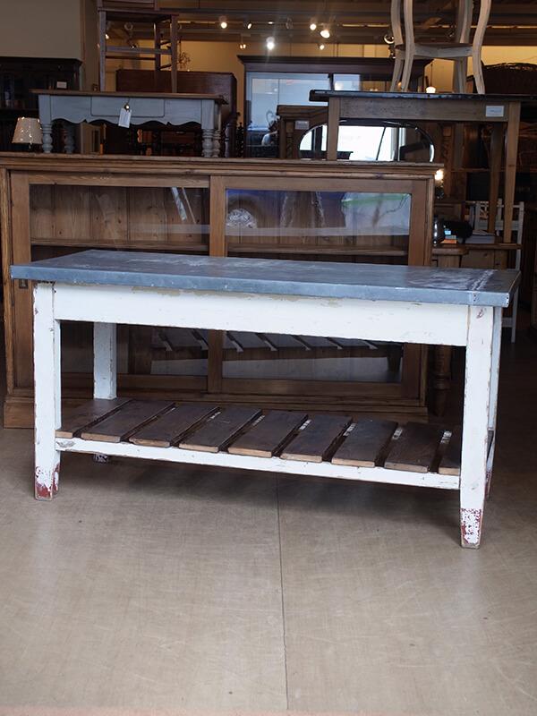 KG184 アンティークパインジンクトップワークテーブル