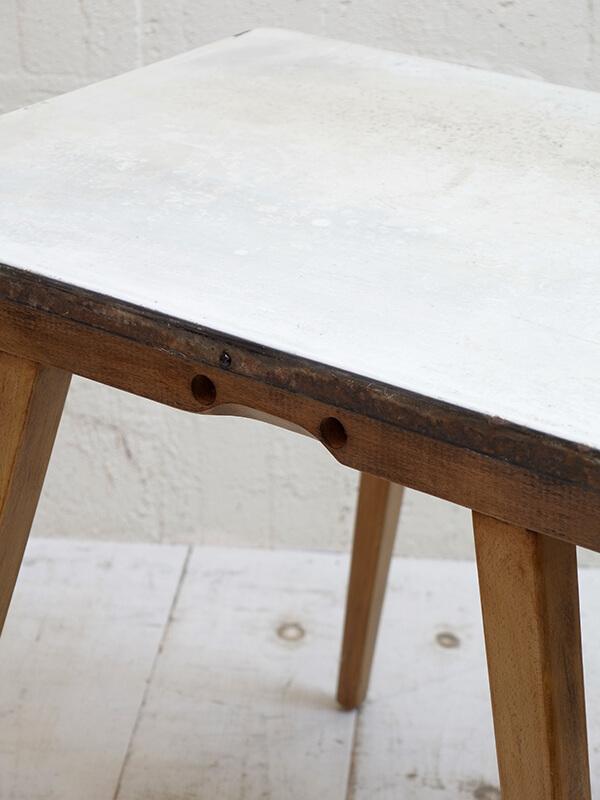 KG138 アンティーク エナメルトップテーブル