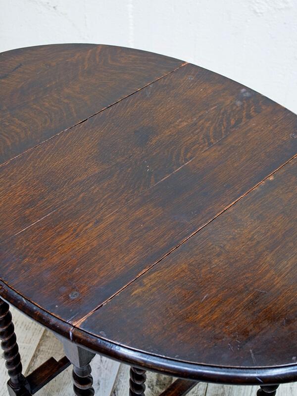 KG105a アンティーク オークゲイトレッグテーブル