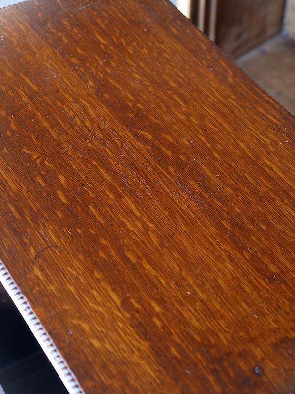KJ3b アンティーク オークサイドテーブル