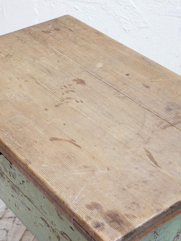 KJ100 アンティークパイン ペイントサイドテーブル