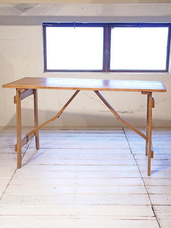 KG136c アンティーク フォールディングテーブル