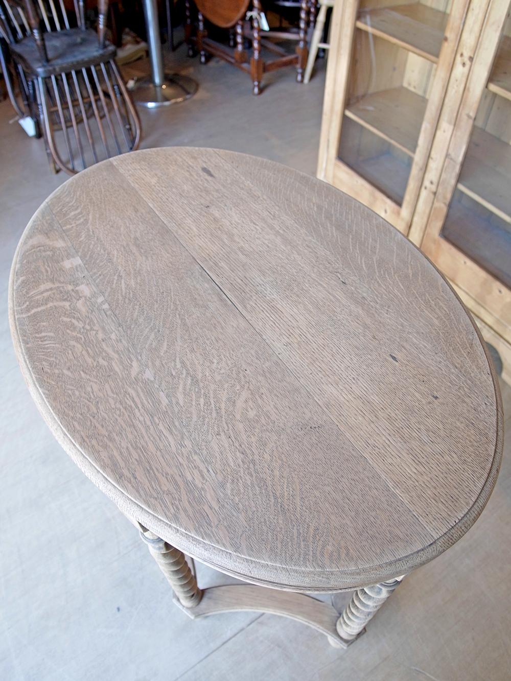 KJ48 アンティーク オークサイドテーブル