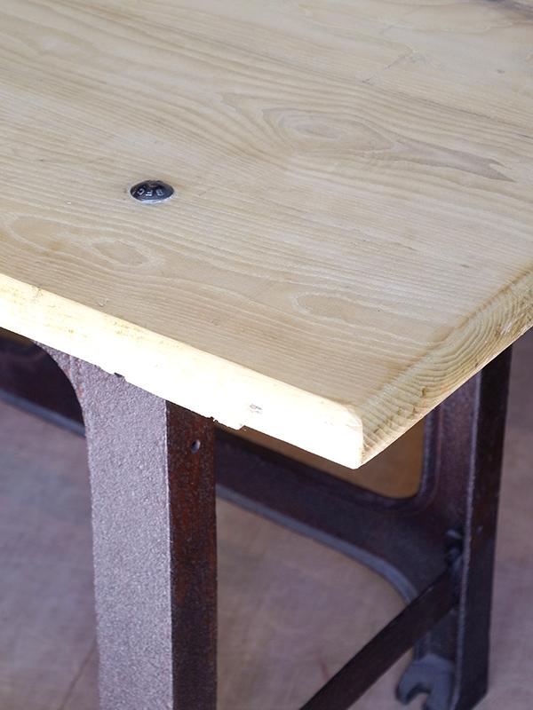 KJ138 アンティーク インダストリアルテーブル