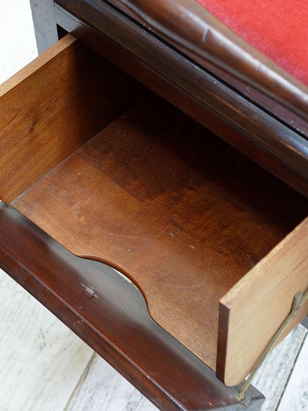 KJ34 アンティーク マホガニーピアノスツール